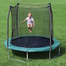 skywalker 8 ft round trampoline with enclosure walmart com