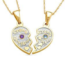 grandmother and granddaughter necklaces granddaughter grandmother heart pendants in 14k gold electroplated
