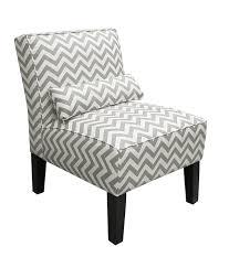 Fun Armchairs Amazon Com Skyline Furniture Armless Chair In Zig Zag Grey