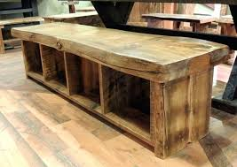 Rustic Bench Dining Table Made Custom Farmhouse Reclaimed Wood Steel Dining Table