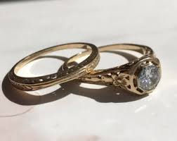 vintage 1920s engagement ring etsy