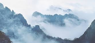 mountain backdrop mountain backdrop china wind cloudy style mountain fog