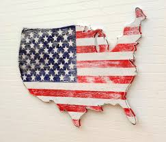 Flag With Cross And Stripes Usa Wooden Flag Map Art Large Us Map Art Wooden Stars And
