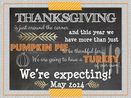 thanksgiving pregnancy announcement from the lifestyled company s