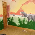 Kids Dinosaur Room Decor Enliven Your Kids Bedroom Dinosaur Themed Wall Art Murals