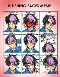 Blushing Meme - blushing meme by dbz senpai on deviantart