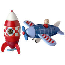 magnetic wooden plane or rocket baby u0026 toddler toys toys