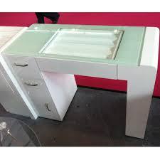 Nail Tech Desk by Glass Top Nail Technician Tables Nail Salon Furniture French