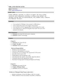 Agile Testing Resume Sample Sample Cover Letter For In House Legal Position Resume Career