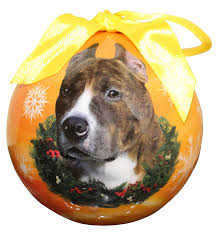 pit bull ornament shatter proof easy to