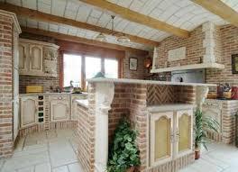 cuisine en brique exemple décoration cuisine brique