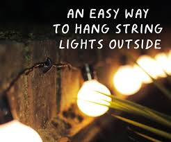 Outdoor Deck String Lighting by An Easy Way To Hang String Lights Outside 4 Steps With Pictures