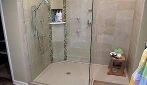 shower bathroom benches seating wonderful shower pan redi bench