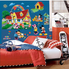 colorful mickey mouse clubhouse wall sticker mural decal kids note when you receive the sticker rolled tube however easier work with flat please use hard things