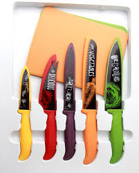 6pcs swiss line ceramic coating knife sets with blade guards buy