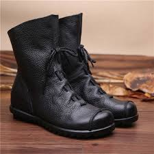 womens boots in style 2017 2017 vintage style genuine leather boots flat booties