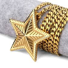 aliexpress buy nyuk gold rings bling gem nyuk new gold silver five pointed pendant necklace judaism