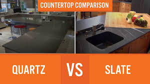 slate countertop quartz vs slate countertop comparison youtube