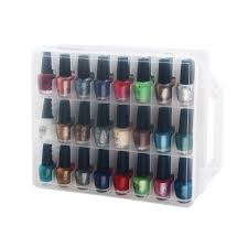 outlet nail polish holder 48 bottles nail storage organizers case