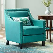 Turquoise Armchair Flynn Teal Upholstered Armchair 4y556 Lamps Plus