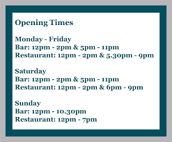 opening times tab 1 the aldwark arms