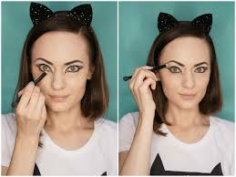 easy face makeup for halloween halloween easy cat makeup tutorial