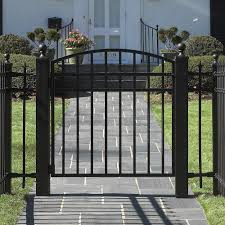iron garden gates and fencing home outdoor decoration