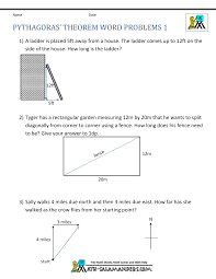 pythagoras theorem questions word problems 1 math 1 pinterest