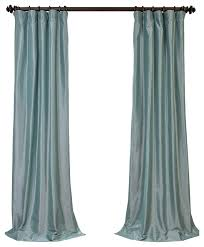 Duck Egg Blue Blackout Curtains Robin U0027s Egg Blackout Faux Silk Taffeta Curtain Single Panel