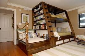 Awesome Best Bunk Beds For Kids With Four And Green Color - Suspended bunk beds