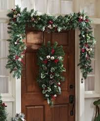 Banister Garland Ideas Christmas Decor Garland My Web Value