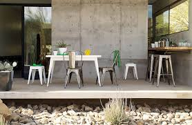 Outdoor Dining Room Outdoor Tolix Marais A Chair Design Within Reach