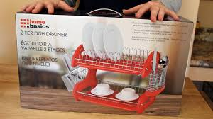 Dish Rack And Drainboard Set Home Basics Dish Drainer 2 Tier Red Rack Product Review