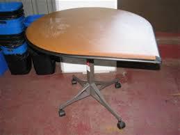 Herman Miller Meeting Table Meeting Table Herman Miller Tear Drop Shape Cane Timber Veneer