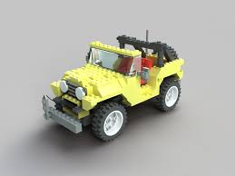 old yellow jeep jeep lego by santiagocamps on deviantart