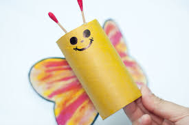 how to make a toilet paper tube butterfly 8 steps with pictures