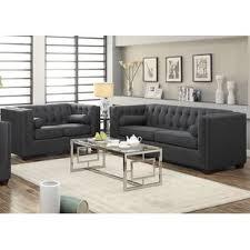 gray living room sets modern living room sets allmodern