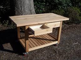 Kitchen Furniture Island Furniture Wooden Movable Kitchen Island With Butcher Block And