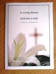 Funeral Bulletin Downloadable Funeral Bulletin Covers Download The Free Template