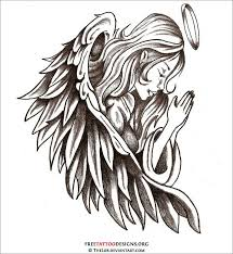 45 best old angel tattoo outlines images on pinterest