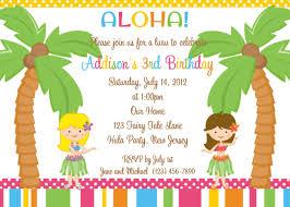 Party Cards Invitations To Print Luau Birthday Invitations Templates