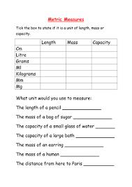 imperial to metric conversion worksheets worksheet converting metric measures by mcamaths teaching