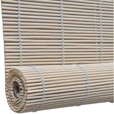 Auto Roller Blinds Natural Bamboo Roller Blinds 120 X 220 Cm Hardware