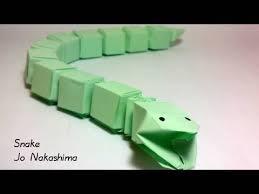 Origami Snake - origami snake jo nakashima