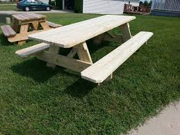 8 foot long table 8 foot treated picnic table 2x8 framing 2x6 benches and table top
