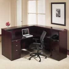 Two Person Reception Desk Office Kentyp19 Kenwood Series Real Wood Receptionist Desk