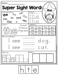 54 best sight words images on pinterest sight word