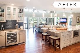 Dura Supreme Kitchen Cabinets Before And After Waterfront Home Kitchen Remodel With A View