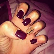 plum u0026 nails with a black cross nails pinterest