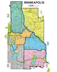Map Of St Paul Mn Board Of Education Districts 4 U0026 6
